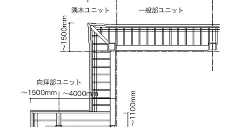 アルミ社寺軒先枠組建築工法の仕様詳細